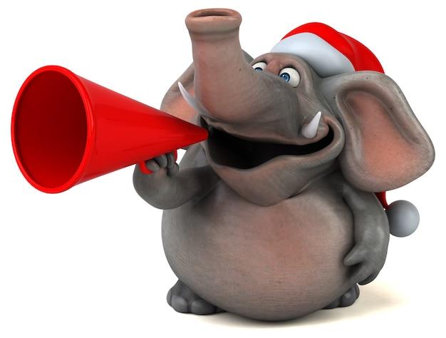 Zabawa słoń - ilustracja 3d