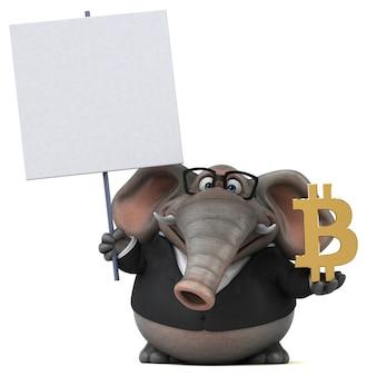 Zabawa słoń ilustracja 3d