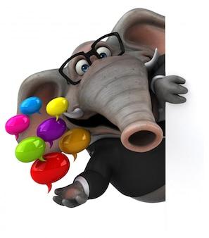 Zabawa słonia 3d ilustracja