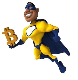 Zabawa superbohatera - ilustracja 3d