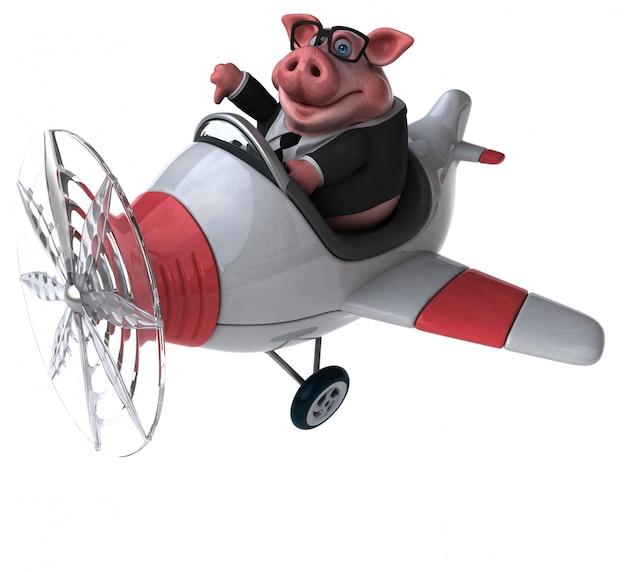 Zabawa świnia - 3d ilustracji