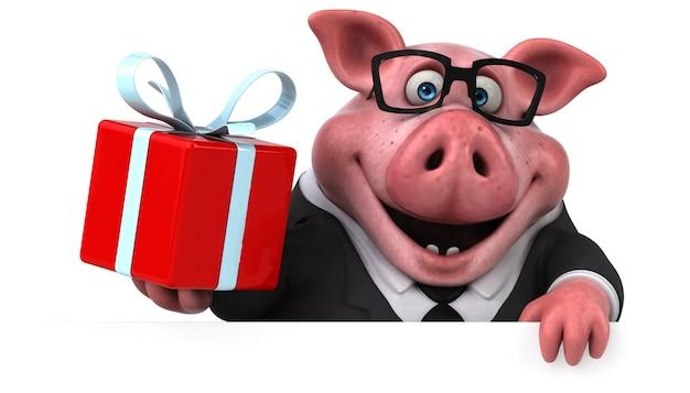 Zabawa świnia - ilustracja 3d