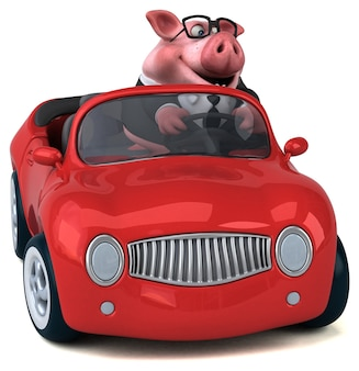 Zabawa świnia ilustracja 3d