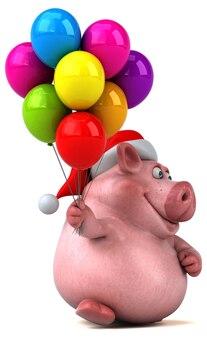 Zabawa świnia ilustracja