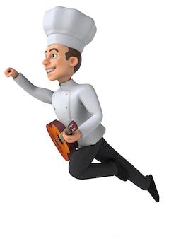 Zabawa szefem kuchni - ilustracja 3d