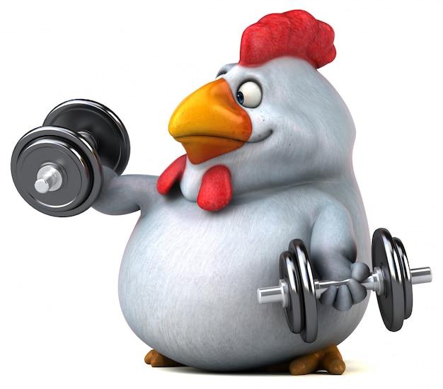 Zabawa z kurczaka - ilustracja 3d