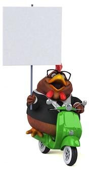 Zabawa z kurczaka ilustracji 3d