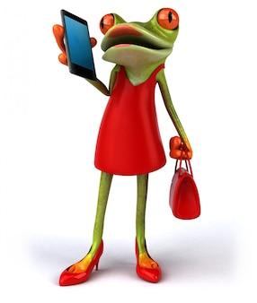 Zabawa żaba ilustracja 3d
