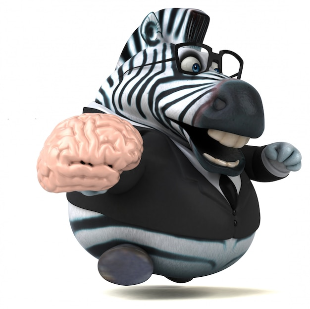 Zabawa zebra - ilustracja 3d