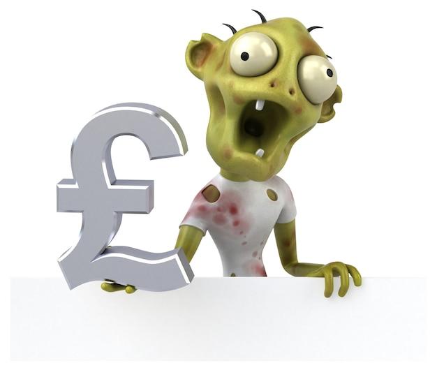 Zabawa zombie - ilustracja 3d