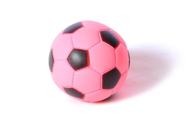 Zabawka mała piłka nożna, na białym tle