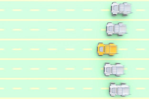 Zabawka pickupa żółty samochód