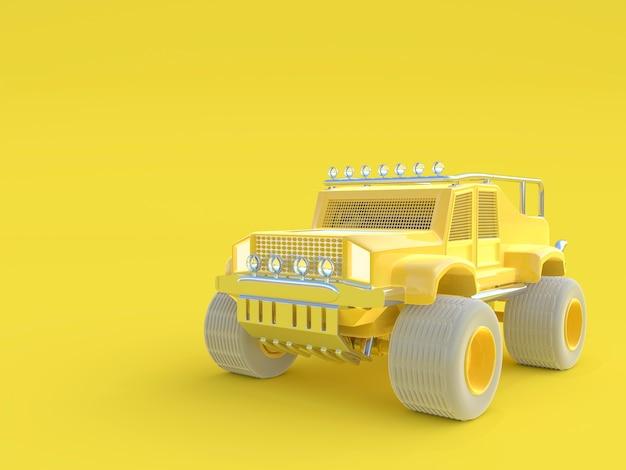 Zabawka samochód samochód pick-up żółty kolor