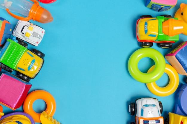 Zabawki dla dzieci, widok z góry