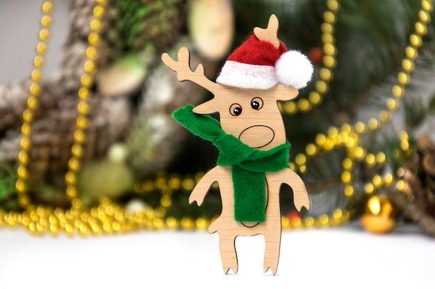 Zabawki drewniane jelenie jeleń bożonarodzeniowy
