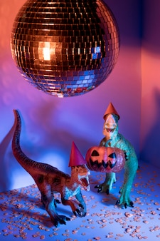 Zabawki na halloween i disco ball