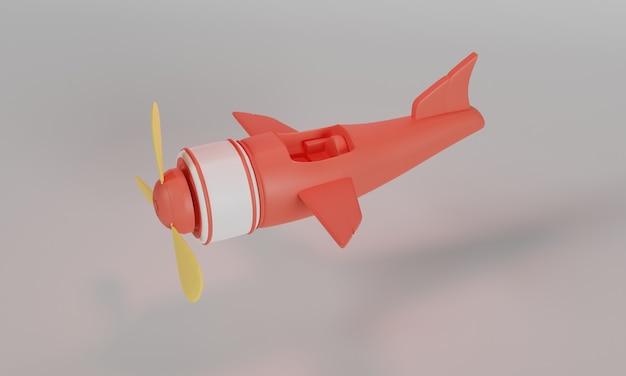 Zabawkowy samolot ilustracja projekt 3d