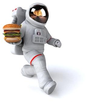 Zabawna animacja astronautów