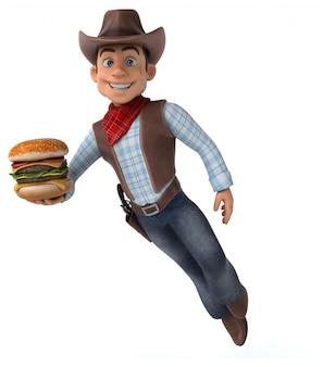 Zabawna animacja cowboy