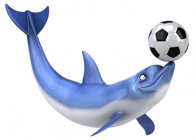 Zabawna animacja delfinów
