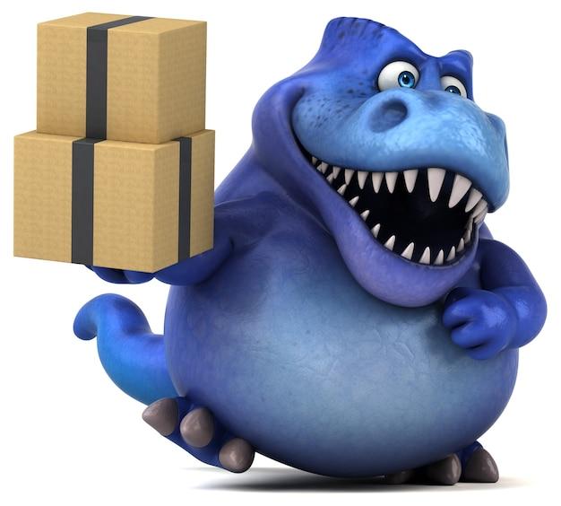 Zabawna animacja dinozaurów