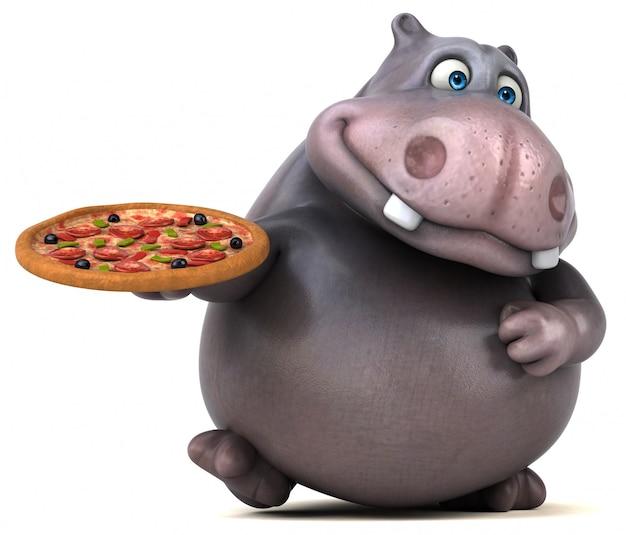 Zabawna animacja hipopotama