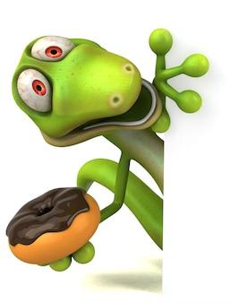 Zabawna animacja jaszczurki