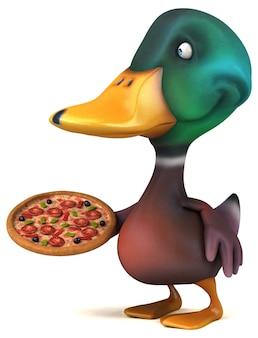 Zabawna animacja kaczki