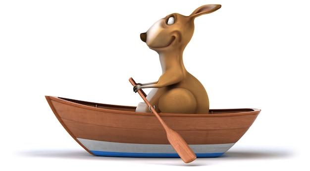 Zabawna animacja kangura