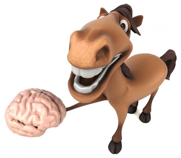 Zabawna animacja koni