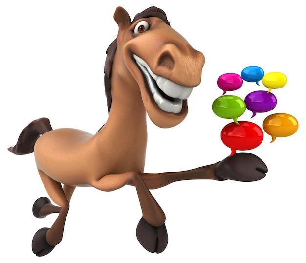 Zabawna animacja konia