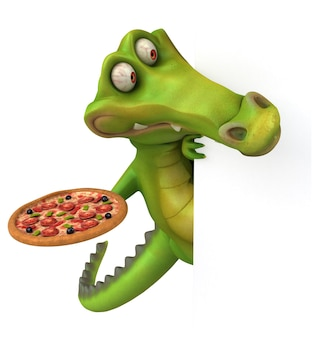 Zabawna animacja krokodyla
