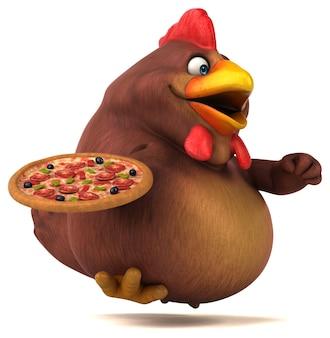 Zabawna animacja kurczaka