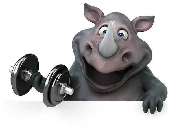 Zabawna animacja nosorożca