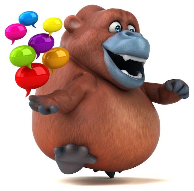 Zabawna animacja orangoutan