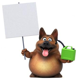 Zabawna animacja owczarka niemieckiego