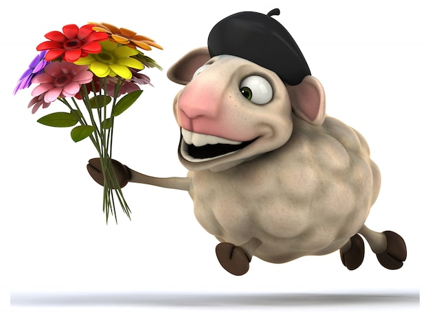Zabawna animacja owiec