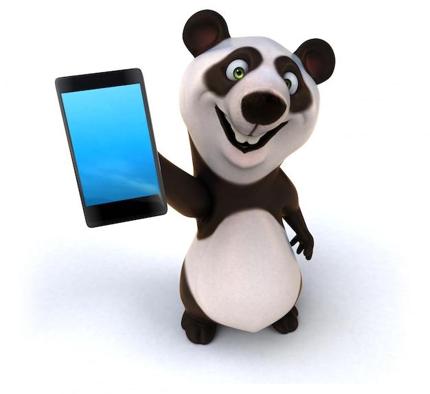 Zabawna animacja panda
