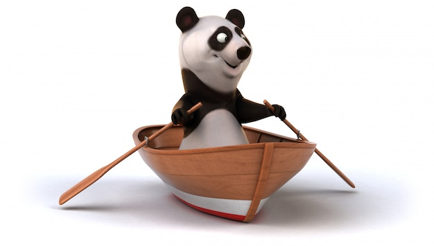Zabawna animacja pandy
