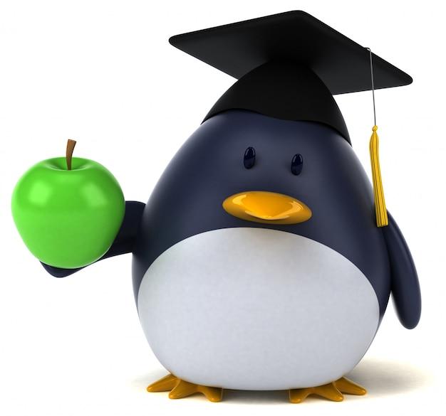 Zabawna animacja pingwina