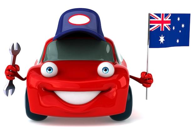 Zabawna animacja samochodu