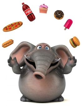 Zabawna animacja słonia