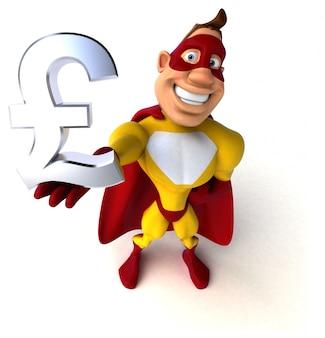 Zabawna animacja superbohatera