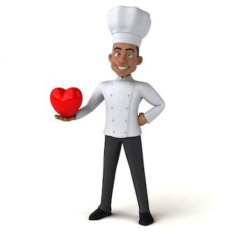 Zabawna animacja szefa kuchni