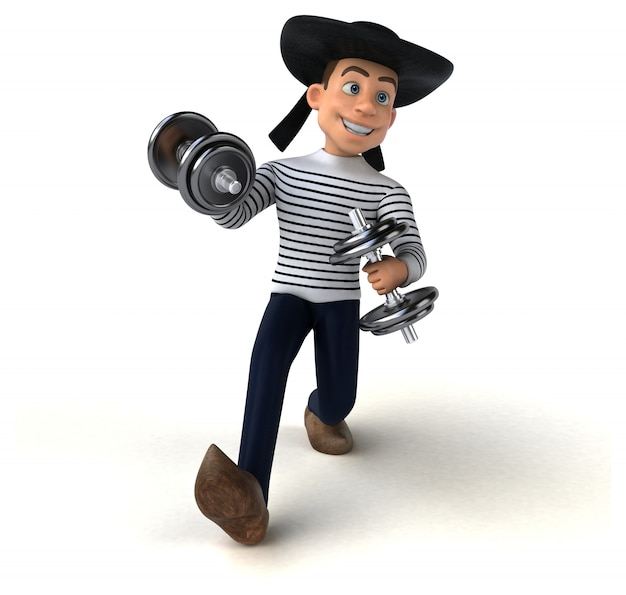 Zabawna animacja z facetem bretońskim