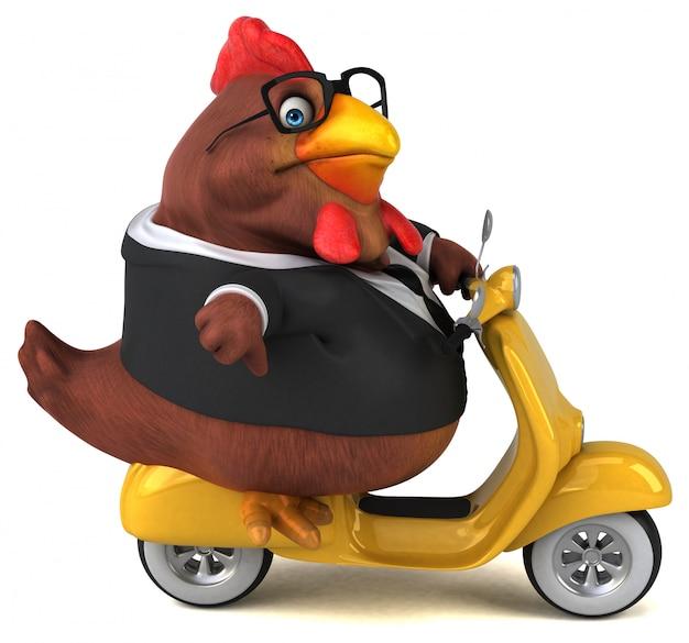Zabawna animacja z kurczaka