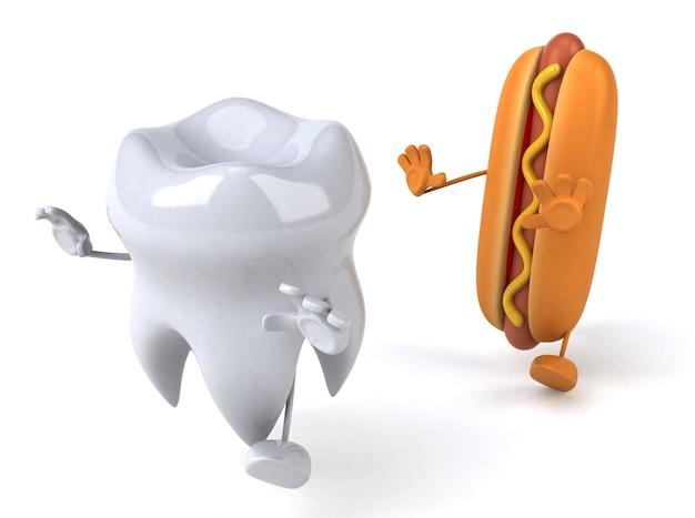 Zabawna animacja zębów