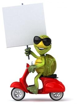 Zabawna animacja żółwia