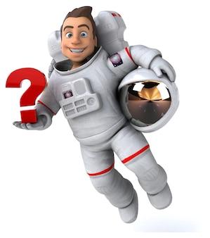 Zabawna astronauta ilustracja 3d