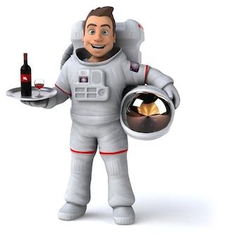 Zabawna ilustracja astronauta